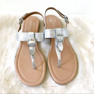 Coach Cassidy Silver Sandals
